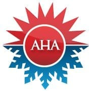 "A logo of the website ""All Hours Air"" the upper part which is the figure of the sun symbolizes the heat while the lower part which is a snow flakes symbolizes cold"