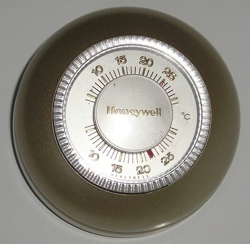 sample of the old thermostat